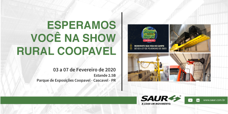 VISITE-NOS NA SHOW RURAL COOPAVEL 2020