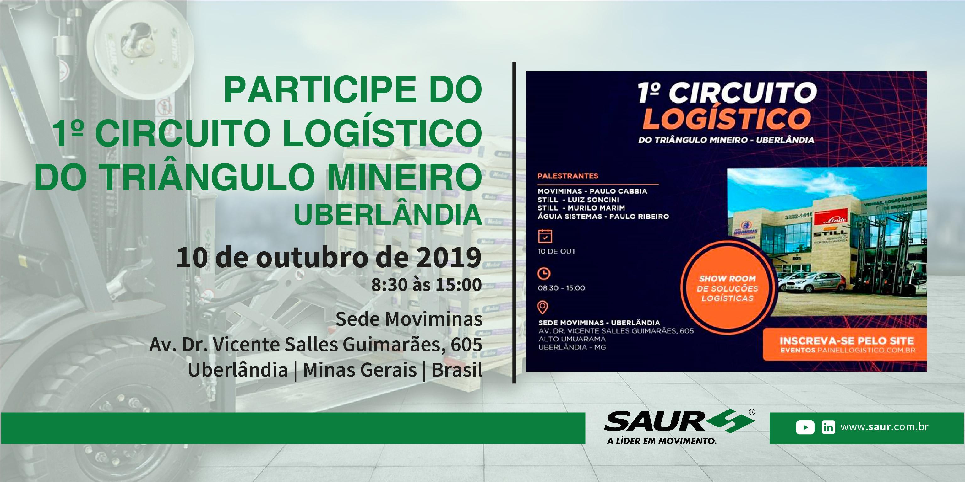 PARTICIPE DO 1º CIRCUITO LOGÍSTICO DO TRIÂNGULO MINEIRO