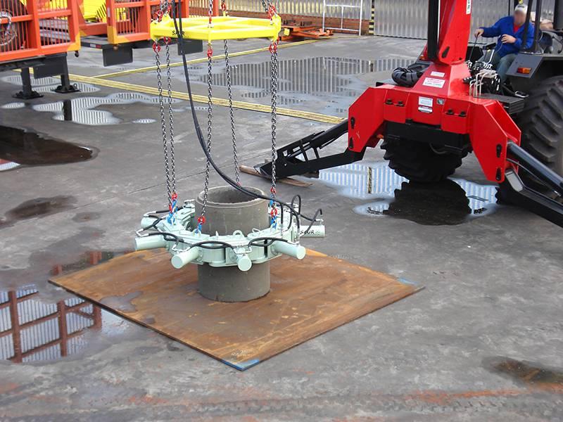 Quebrador Hidráulico de Pilares de Concreto
